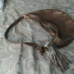 Two Tone Parisian Handbag Brown&Gold.